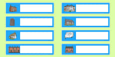 Houses and Homes Editable Gratnells Tray Labels