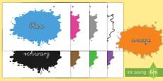 Farbkleckse für die Klassenraumgestaltung