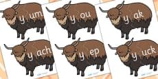 y Sound And Vowel Animal Jigsaw