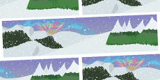 Small World Background North Pole to Support Teaching on The Snowman