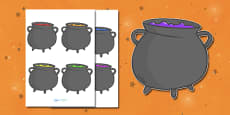 Editable Halloween Cauldrons (Small)
