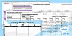 PlanIt - History KS1 - Great Explorers Unit Assessment Pack