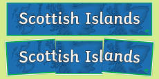 Scottish Islands Display Banner