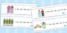 Cinderella Alphabet Strips