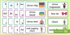 Circus Classroom Labels