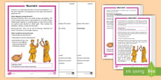 * NEW * Navratri Differentiated Reading Comprehension Activity