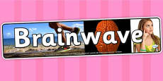 Brainwave Photo Display Banner