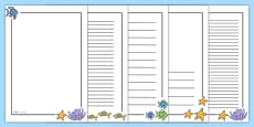 Page Borders to Support Teaching on The Rainbow Fish