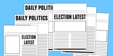 Election Report Newspaper Template