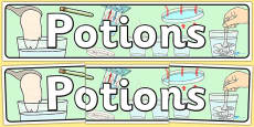 Potions Themed Banner