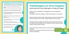 Trabalenguas en otros idiomas de día europeo de las lenguas