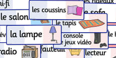 French Lounge Words Flashcards