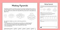 Egyptian Maths Problem Making a Pyramid
