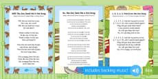 Songs and Rhymes Resource Pack to Support Teaching on Dear Zoo