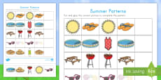 Summer Patterns Activity Sheet