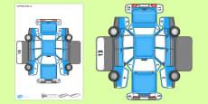 Transport Paper Model Car