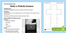 Make a Pin Hole Camera Activity Sheet