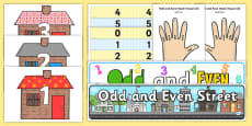 Odd and Even Numbers Display Pack