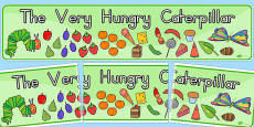 Australia - Display Banner to Support Teaching on The Very Hungry Caterpillar