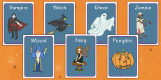 Halloween Fancy Dress Shop Role Play Posters