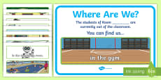Where Are We? Class Door Chart Large Display Cut-Out Pack