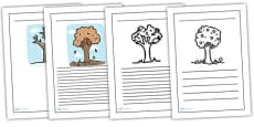 Four Seasons Writing Frames
