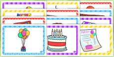 10th Birthday Party Place Mats