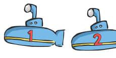 Numbers 0-20 on Submarines