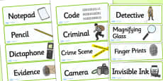 Detective Role Play Labels