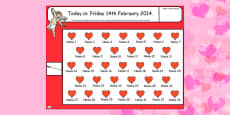Valentine's Day Themed Self Registration Flipchart - Australia