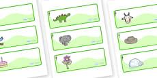 Redwood Themed Editable Drawer-Peg-Name Labels