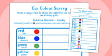 Car Colour Survey Romanian Translation