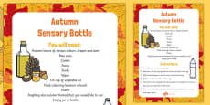 Autumn Sensory Bottle