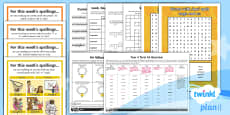 PlanIt Y4 Term 1A Bumper Spelling Pack