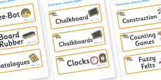 Safari Themed Editable Additional Classroom Resource Labels