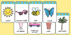 Summer Flashcards Arabic