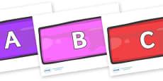 A-Z Alphabet on Bricks (Multicolour)
