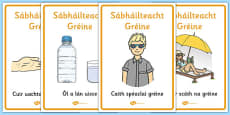 Sun Safety Posters Gaeilge