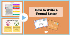 How to Write a Formal Letter PowerPoint