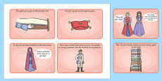 The Princess and the Pea Story Sequencing (4 per A4)