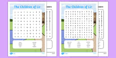 The Children of Lir Differentiated Word Search