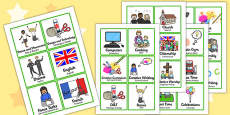 KS2 Visual Timetable Romanian Translation