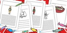 The Nutcracker Writing Frames