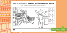 Race to the Checkout Colour by Number Activity Sheet