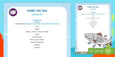 Under the Sea Sensory Bin and Resource Pack
