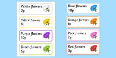 Garden Centre Labels - Flowers