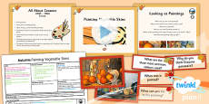 PlanIt - Art LKS2 - Autumn Lesson 6: Painting Vegetable Skins Lesson Pack