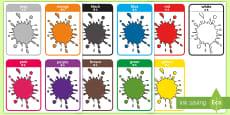Colour Flash Cards - English/Mandarin Chinese