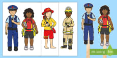 Heroes in Our Community Stick Puppets