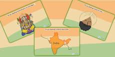 India Themed Playdough Mats